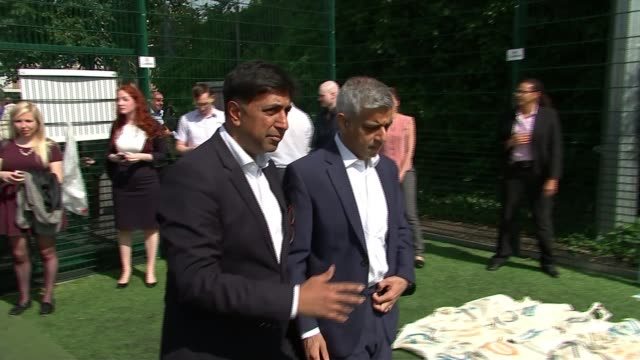 London Mayor Sadiq Khan urges Grenfell victims to seek help for trauma London Mayor Sadiq Khan along on visit to the Unity of Faiths Foundation