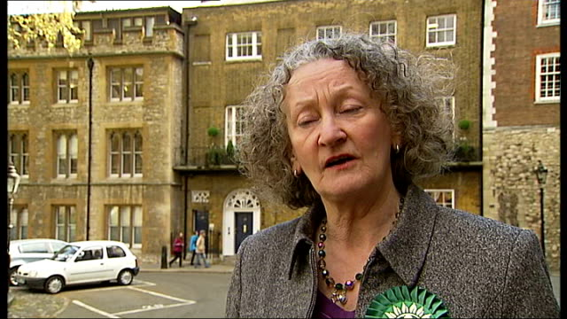 green party and ukip launch election manifestos jenny jones interview sot need a greener city if we're going to survive into the future / will work... - green party stock videos and b-roll footage