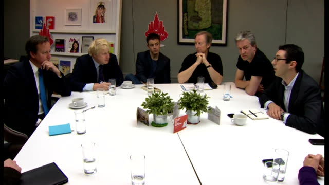 london mayoral election: boris johnson and ken livingstone campaigning; england: london: tottenham court road: ext david cameron mp and boris johnson... - tottenham court road stock videos & royalty-free footage