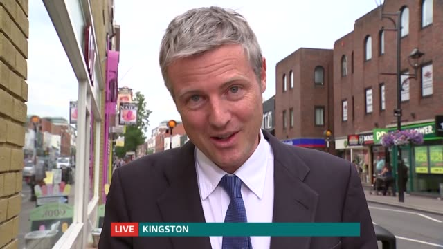 Zac Goldsmith Conservative candidate frontrunner ENGLAND London GIR INT Zac Goldsmith 2 WAY interview from KingstonuponThames SOT