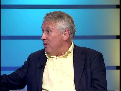 bob neill interview gir int bob neill studio interview sot - itv london tonight weekend stock videos & royalty-free footage