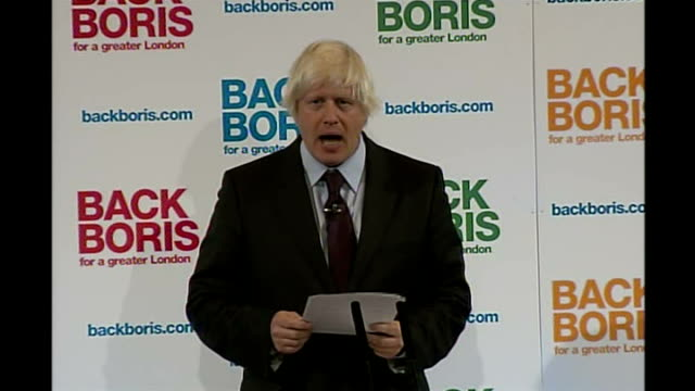 vidéos et rushes de boris johnson campaign launch boris johnson speech sot i glory in the diversity of this city / and as someone who's own ethnicity is about as... - maire