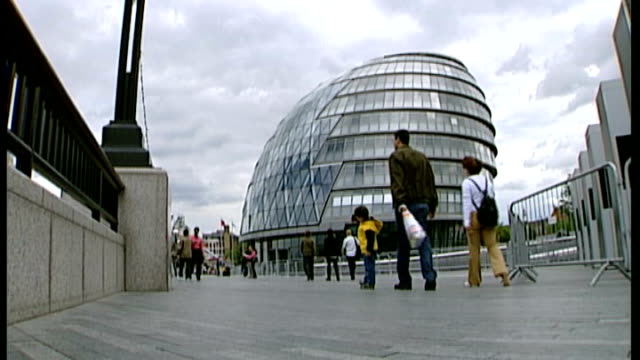 london mayoral elections: last day of campaigning; various of city hall - last day stock videos & royalty-free footage