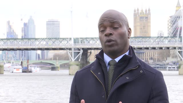 london mayoral elections: shaun bailey interview; england: london: ext shaun bailey interview sot - re 2021 london mayoral elections campaign and... - politics video stock e b–roll