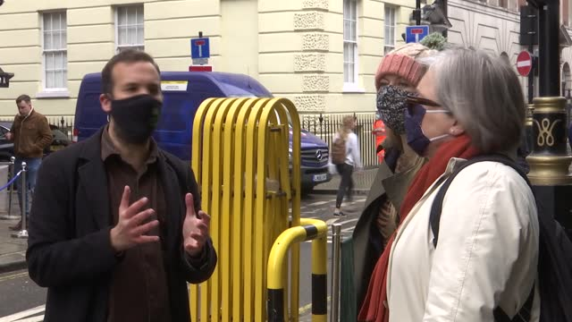 london mayoral elections: sian berry interview; england: london: soho: ext various of sian berry standing in street chatting with others - politics video stock e b–roll