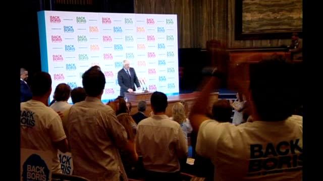 vidéos et rushes de yougov poll shows candidates neck and neck lib johnson launching 'back boris' campaign - maire