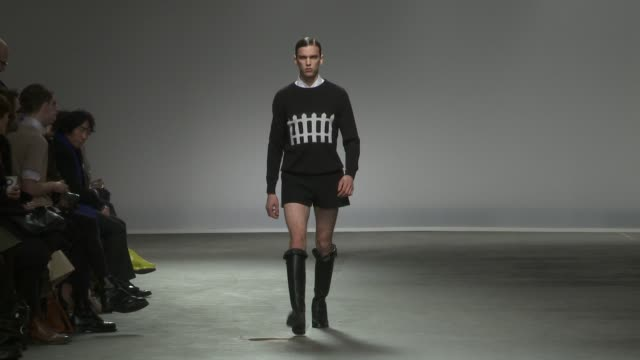 london men's fashion week a/w 2013 jw anderson men a/w 2013 on january 09 2013 in london england - model stock videos & royalty-free footage