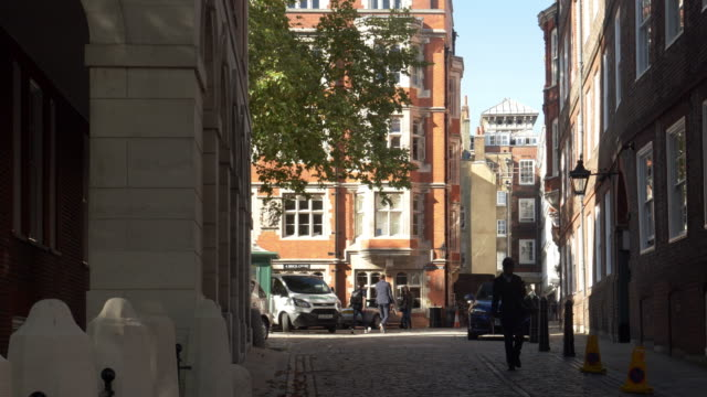 london middle temple lane to brick court - temple building stock videos & royalty-free footage