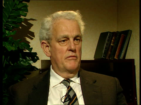 london millbank tam dalyell mp interview sot mohtashemi said that blood would reign down ten american aircraft would be brought to earth mohtashemi... - linlithgow stock videos and b-roll footage