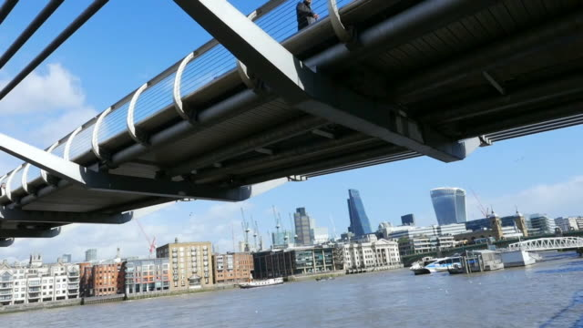 london millennium bridge cinemagraph - greater london stock videos and b-roll footage