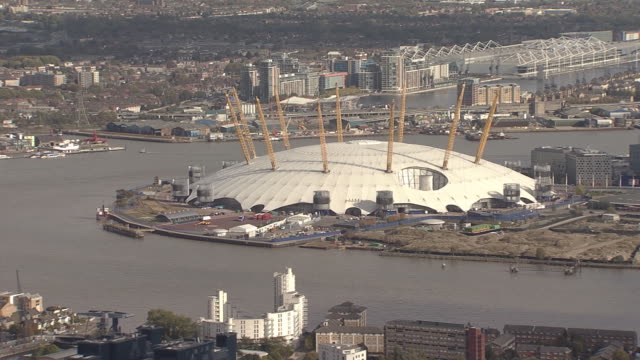 London Millennium Dome (o2 Arena) Overview by Helicopter