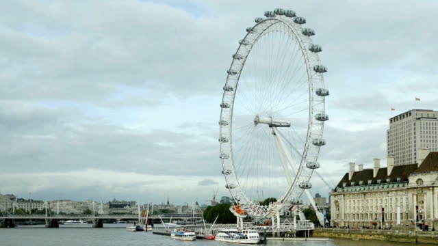 london millennium wheel cinemagraph - millennium wheel stock videos & royalty-free footage