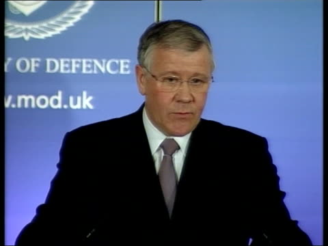 london ministry of defence adam ingram mp at press conference podium adam ingram mp press conference sot if there's hurt from language used we regret... - channel 4 news stock videos and b-roll footage