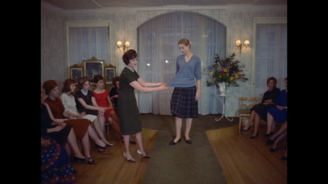 1961 - london - modeling school - skirt stock videos & royalty-free footage