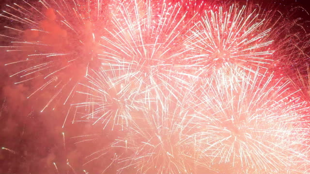 london new year  celebration fireworks - thames river stock videos and b-roll footage