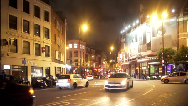 london old street to the west at night - hackney stock videos & royalty-free footage