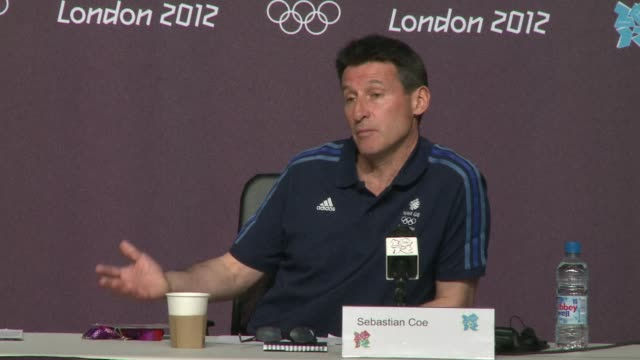 london olympics chairman sebastian coe on wednesday described the badminton 'match throwing' scandal as depressing and unacceptable london united... - 2012 stock videos and b-roll footage