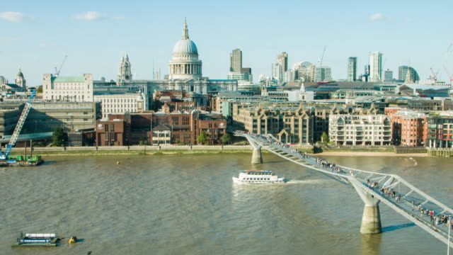 london on a sunny day - thames river stock videos and b-roll footage