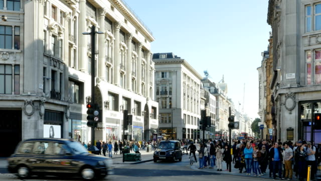 london oxford circus and oxford street - oxford street london stock videos and b-roll footage