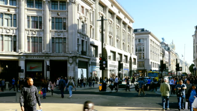 london oxford circus and oxford street - level crossing stock videos & royalty-free footage