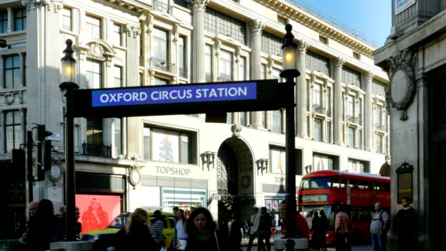London Oxford Circus Station In Front Of Oxford Street