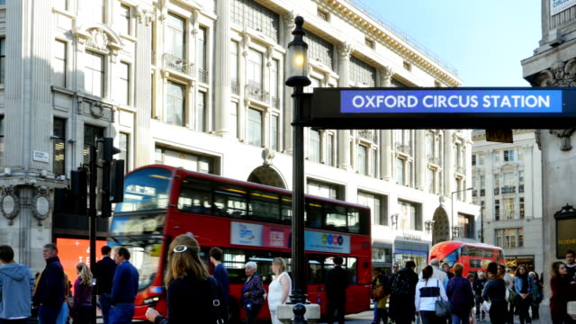 london oxford circus subway station entrance - london underground stock videos & royalty-free footage