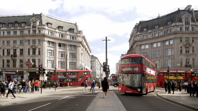 london oxford circus - road signal stock videos & royalty-free footage