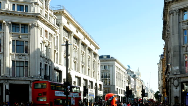 london oxford street to the east - oxford circus stock videos and b-roll footage