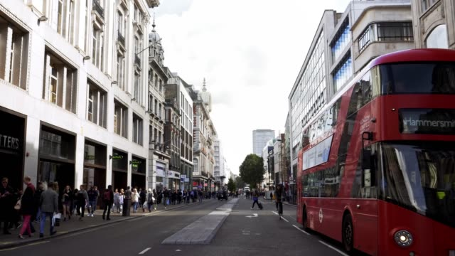 london oxford street - double decker bus stock videos & royalty-free footage
