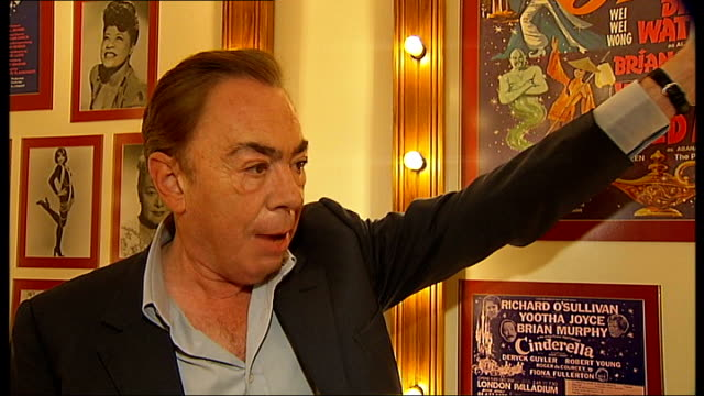london palladium celebrates 100th birthday; london palladium: int lord andrew lloyd webber interview sot - is great variety theatre / had all the big... - nicholas parsons stock videos & royalty-free footage