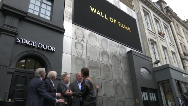 london palladium honours stars with stage door 'wall of fame' england london london palladium ext des o'connor jimmy tarbuck sir andrew lloyd webber... - tommy steele stock videos & royalty-free footage