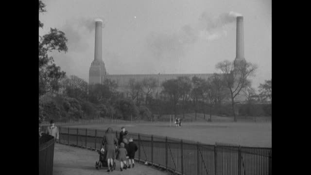 1936 - london parks and open areas in london - battersea stock videos & royalty-free footage