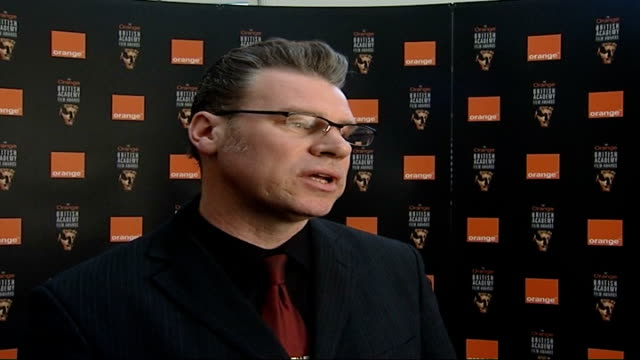 piccadilly: bafta: int mark kermode with nannar mark kermode interview sot - on increasing signifcance of baftas - マーク カルモード点の映像素材/bロール