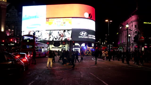 London Piccadilly Circus på natten