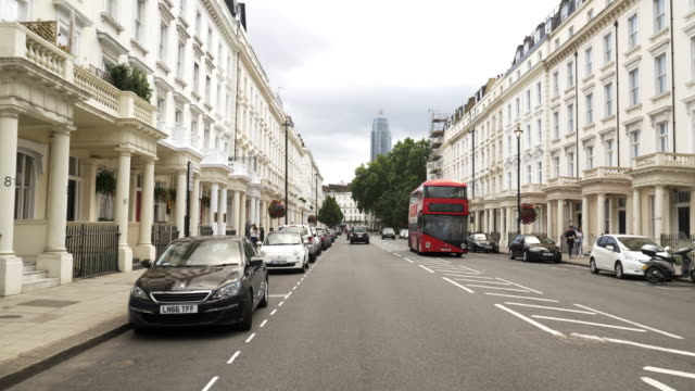 london pimlico belgrave road - double decker bus stock videos & royalty-free footage