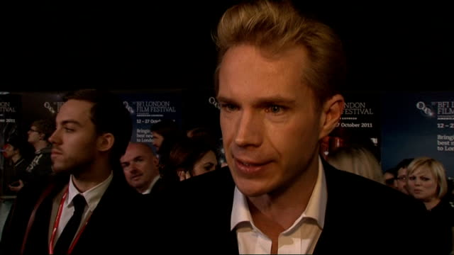 London premiere of film 'WE' James D'Arcy interview SOT On working with Madonna / She's as prepared as a director as I've ever worked with / She...