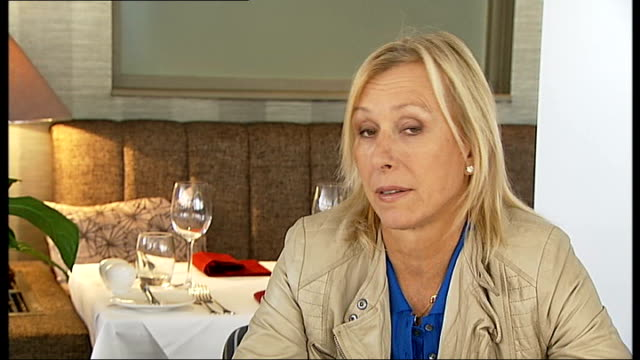 london pride festival 2013: martina navratilova hosts launch event; int martina navratilova interview sot - there's no doubt about it, there is still... - no doubt stock-videos und b-roll-filmmaterial