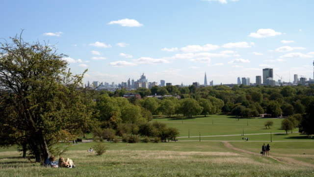 london primrose hill and urban skyline from the north - landscaped stock videos & royalty-free footage