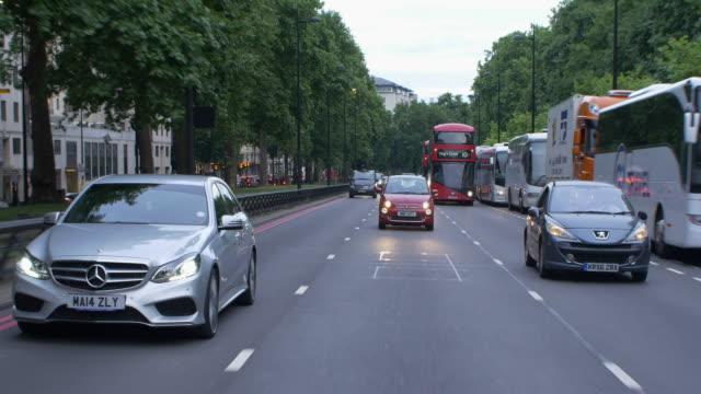 London rear pov drivng process plate
