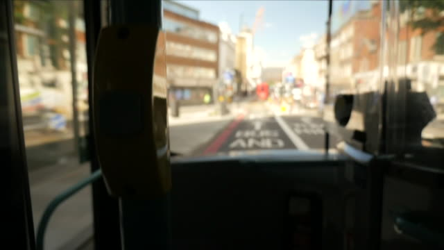 london red bus - bus stop stock videos & royalty-free footage