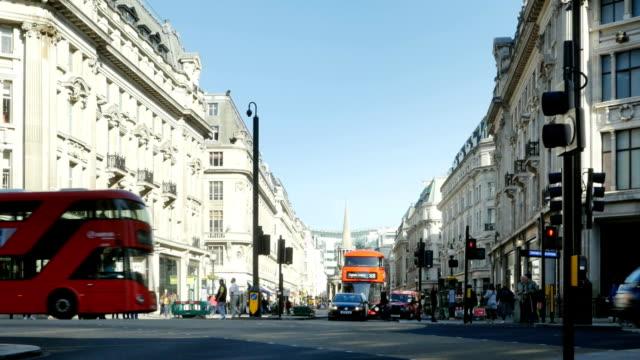 ロンドン Regent Street の北側から見たオックスフォードサーカス