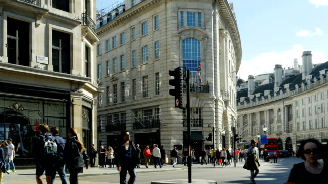 london regent street south end (4k/uhd to hd) - west end london stock videos and b-roll footage
