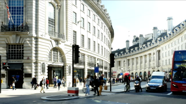 london regent street south end - west end london stock videos and b-roll footage