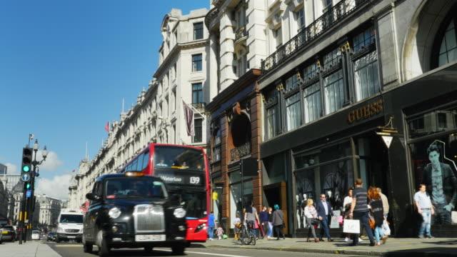 london regent street - hackney video stock e b–roll