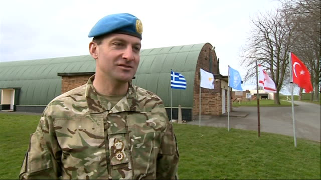 london regiment reservists prepare for deployment in cyprus; england: shropshire: two reservists cycling along two reservists riding bikes lt col... - basco video stock e b–roll