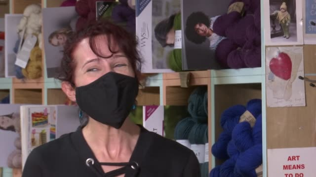 'london repair week' encourages people to avoid throwing out old clothes england london int unidentified repairer interview sot - itv london tonight stock videos & royalty-free footage
