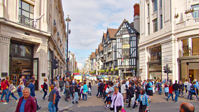 london retro style street - high street stock videos & royalty-free footage