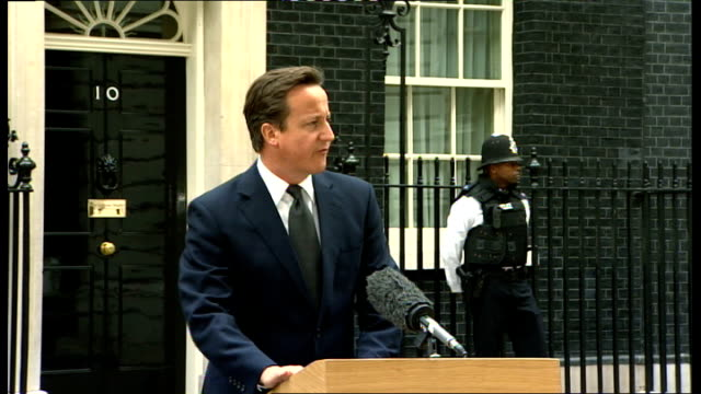 further violence and unrest; england: london: downing street: ext david cameron mp press conference sot - i've come straight from a meetin gof the... - no doubt band stock videos & royalty-free footage