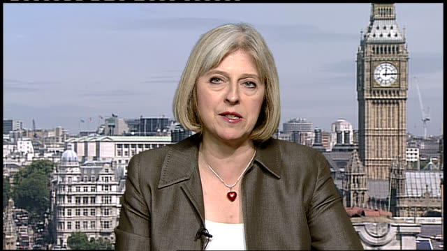relatively quiet night after huge increase in police numbers ENGLAND London GIR INT Theresa May MP 2WAY interview SOT Talks about police numbers and...