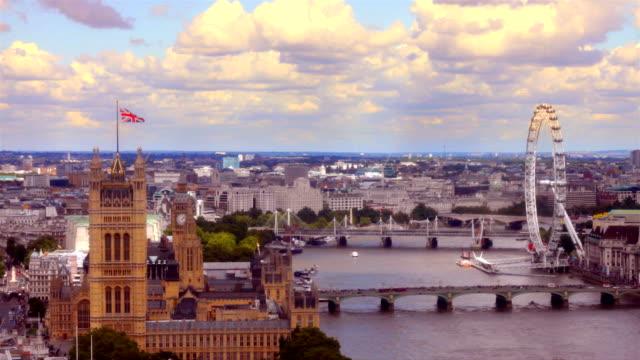 London River Thames skyline time-lapse. HD